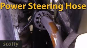 replacing a leaking power steering hose youtube