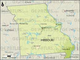 Physical Map United States by Geoatlas United States Canada Missouri Map City Illustrator
