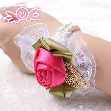 cheap corsages 2015 wedding corsage flower silk roze pols corsages in