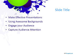 make a bold impression on the audience with this splatter theme of