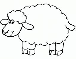 coloring decorative sheep coloring pages children