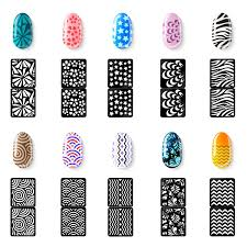 amazon com mudder 144 pieces nail vinyls stencils nails stickers