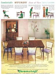 chromcraft dining chairs retro dining furniture on retro mod