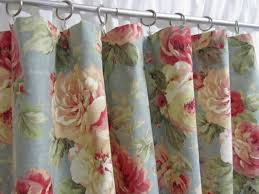 cottage style curtains shabby chic home decor blue floral