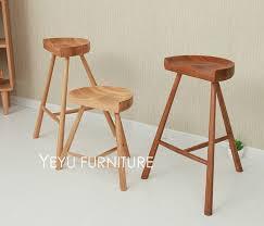 oak wood bar stools fashion popular modern design solid oak wood bar stool low stool