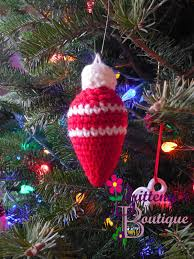 britteny off the hook holiday bauble bulb orgnament crochet
