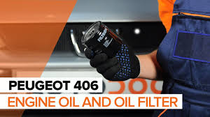 how to replace engine oil on peugeot 406 tutorial autodoc youtube