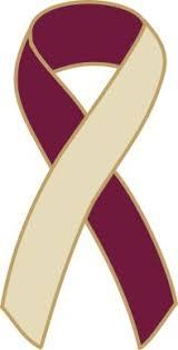 burgundy ribbon neck cancer awareness ribbon pin burgundy ivory