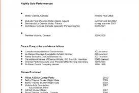 Dance Resume Examples by Professional Dancer Resume Reentrycorps