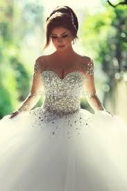brautkleider bodenlang vestido de noiva princesa elegante langarm brautkleider luxus