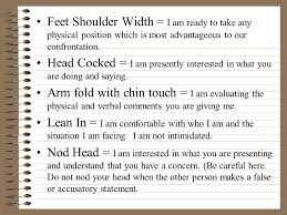 I Am Comfortable Body Language In Confrontational Situations Ppt Download