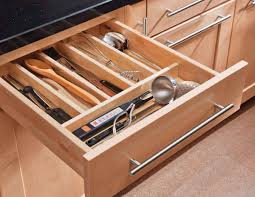 Kitchen Drawer Inserts Kitchen Fascinating Picture Of Square Solid Light Oak Wood
