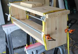 Build A Storage Bench How To Build A Farmhouse Style Storage Bench In Under An Hour