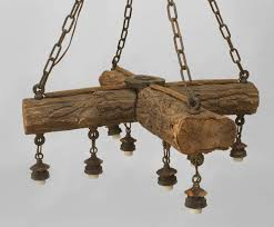 Chandelier Rustic Early 20th C American Rustic Log Chandelier For Sale At 1stdibs