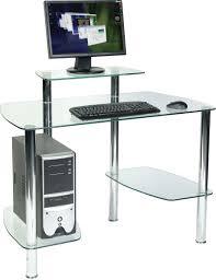 glacier computer desk office u0026 study glass computer workstation