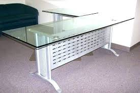 Glass Office Desks L Shaped Computer Desk Glass Office Desks L Shaped Glass L Shaped