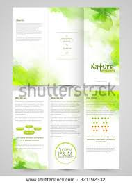 sided tri fold brochure template creative ecological trifold brochure template flyer stock vector