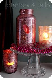 mason jar candles with glitter candles decoration