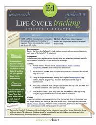 arts integration lesson life cycle tracking educationcloset