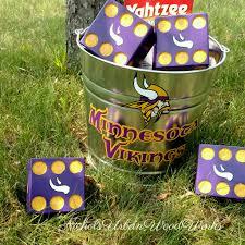 minnesota vikings yard yahtzee yard farkle yardzee lawn games