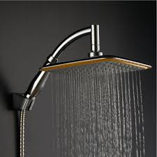 amazon co uk fixed showerheads diy tools ke1aip 360 swivel joint 9 inch square rainfall overhead shower head ionic filtration high pressure saving water handheld shower autumn and winter