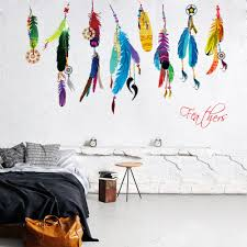 Buy Indian Home Decor U0026 Creative Indian Girls Feather Wolf Headdress Wall Stickers