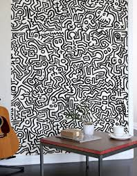 movement black giant wall murals by keith haring giant wall movement black giant wall murals keith haring wall sticker wall decal main image