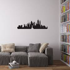 new york city skyline vinyl wall art decal for home decor