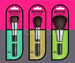 makeup artist collection realistic makeup brush set isolated vector illustration