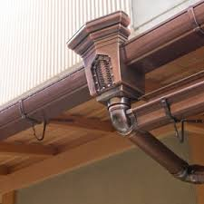 decor u0026 tips seamless copper gutters with soffit and fascia and
