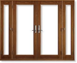 Wood Patio Doors Decoration In Wood Patio Doors In House Design Concept Vented