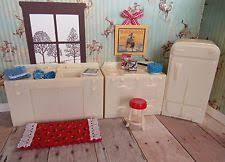 vintage renwal u0027s jolly twins miniature furniture kitchen set