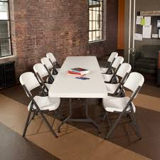 8 foot lifetime table 22980 lifetime 8 foot commercial folding table features a 96 x 30