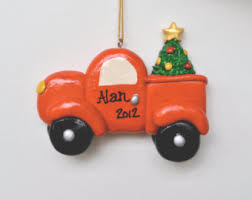 personalized trash garbage truck ornament