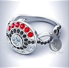 pokeball engagement ring pokeball garnet black and white diamonds infinity