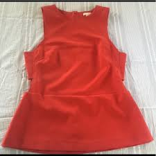 44 off h u0026m tops h u0026m red cut out peplum top from kat u0027s closet on