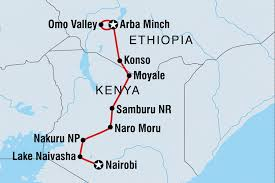 Kenya Blank Map by Nairobi To Omo Ethiopia Tours Intrepid Travel Au