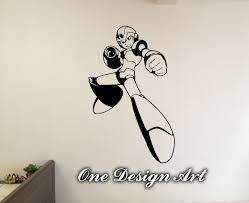 mega man x wall decal megaman home decor anime mural arts zoom