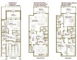 luxury townhomes floor plans house plans