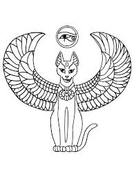 coloring pages egyptian cat egyptian coloring pages egyption cats