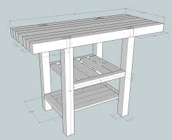 roubo kitchen island popular woodworking magazine click on the image and it will get large enough to actually read the dimensions unless like me you ve mislaid your reading glasses