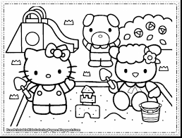 brilliant hello kitty coloring pages games with hello kids