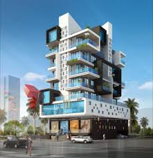 3d apartment awesome high class apartment building exterior day view