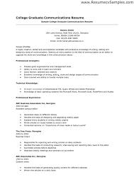 college resume examples