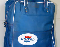 Luggage United Airlines United Airlines Bag Etsy