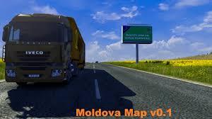 Moldova Map Euro Truck Simulator 2 Republica Moldova Map V0 1 R1 Youtube