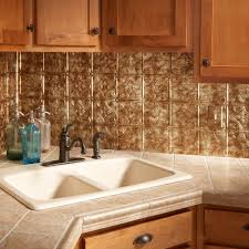 Amazoncom Fasade Easy Installation Traditional  Bermuda Bronze - Backsplash panel