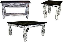 Rustic Distre Barrett Cocktail Table Set Hardwood Rustic And 17 Similar Items