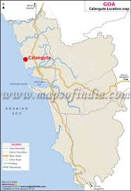 Where Is India On The Map by Calangute Location Map Where Is Calangute
