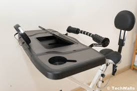 fit desk exercise bike fitdesk fdx 3 0 exercise bike desk with tablet holder review